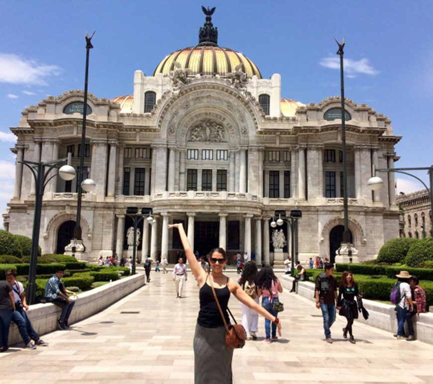 Dom in front of Palacio de Bellas Artes CDMX